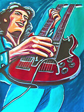 JIMMY PAGE PRINT poster led zeppelin gibson sg doubleneck guitar zofo album cd