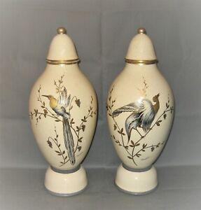 2212* paire de vases couverts pinon heuze tours art déco hauteur 49 cm