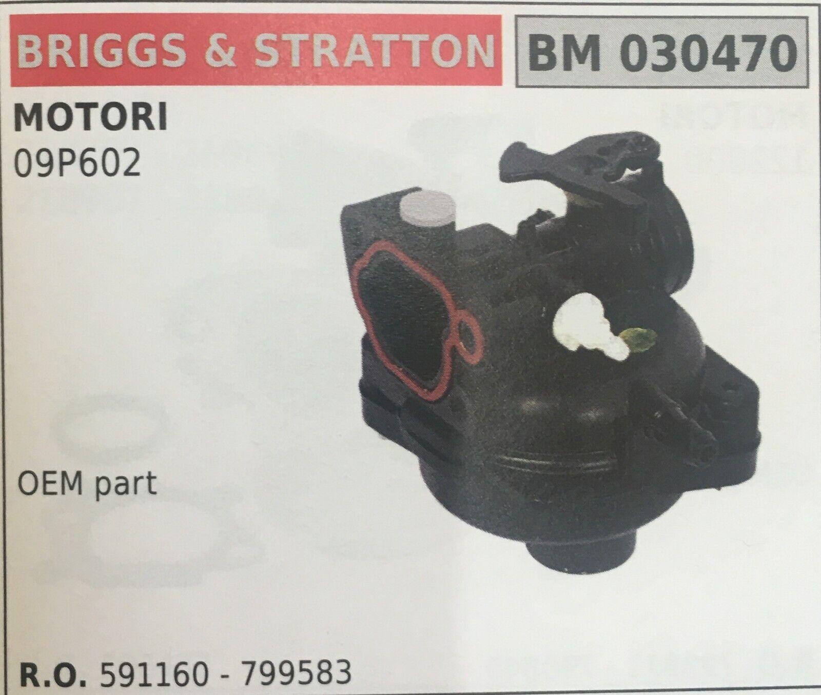 Vergaser A Ölwanne Brumar Briggs & Stratton BM030470 Motoren 09P602
