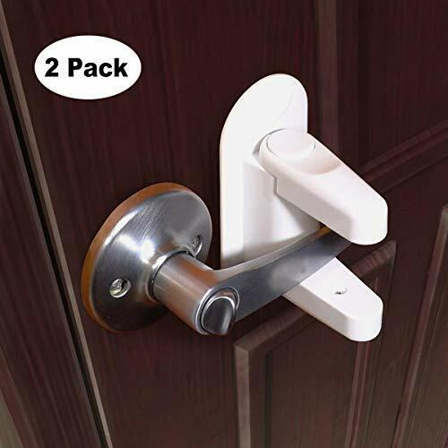 Baby Safety Lock Door Handle HIDARLING Door Lever Lock 3M Adhesive 2 Pack Child