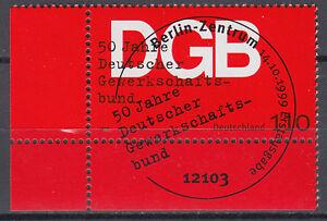 BRD 1999 Mi. Nr. 2083 Eckrand Gestempelt LUXUS!!! (28927) - Beckum, Deutschland - BRD 1999 Mi. Nr. 2083 Eckrand Gestempelt LUXUS!!! (28927) - Beckum, Deutschland