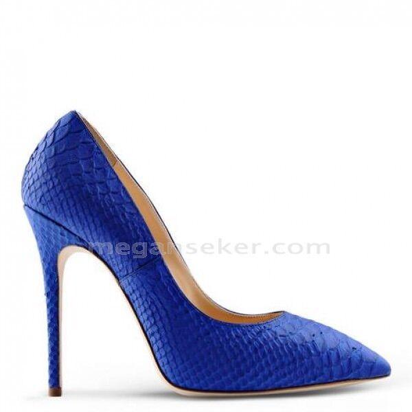 675 GIUSEPPE ZANOTTI YVETTE Stiletto Pumps Heels bluee Python Snakeskin 40 NIB