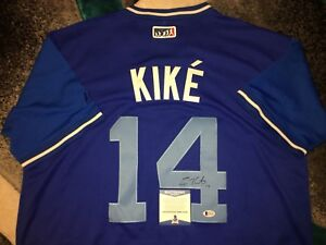 brand new 71bb6 4d79d Details about Kike Hernandez Signed Los Angeles Dodgers Jersey Players  Weekend Beckett
