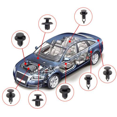 40Pcs Universal Car Push Retainer Body Bumper Rivet Trim Moulding Fastener Clips