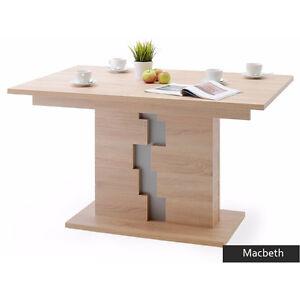 Dettagli su Tavolo allungabile moderno Macbeth, per cucina, sala da pranzo,  soggiorno rovere