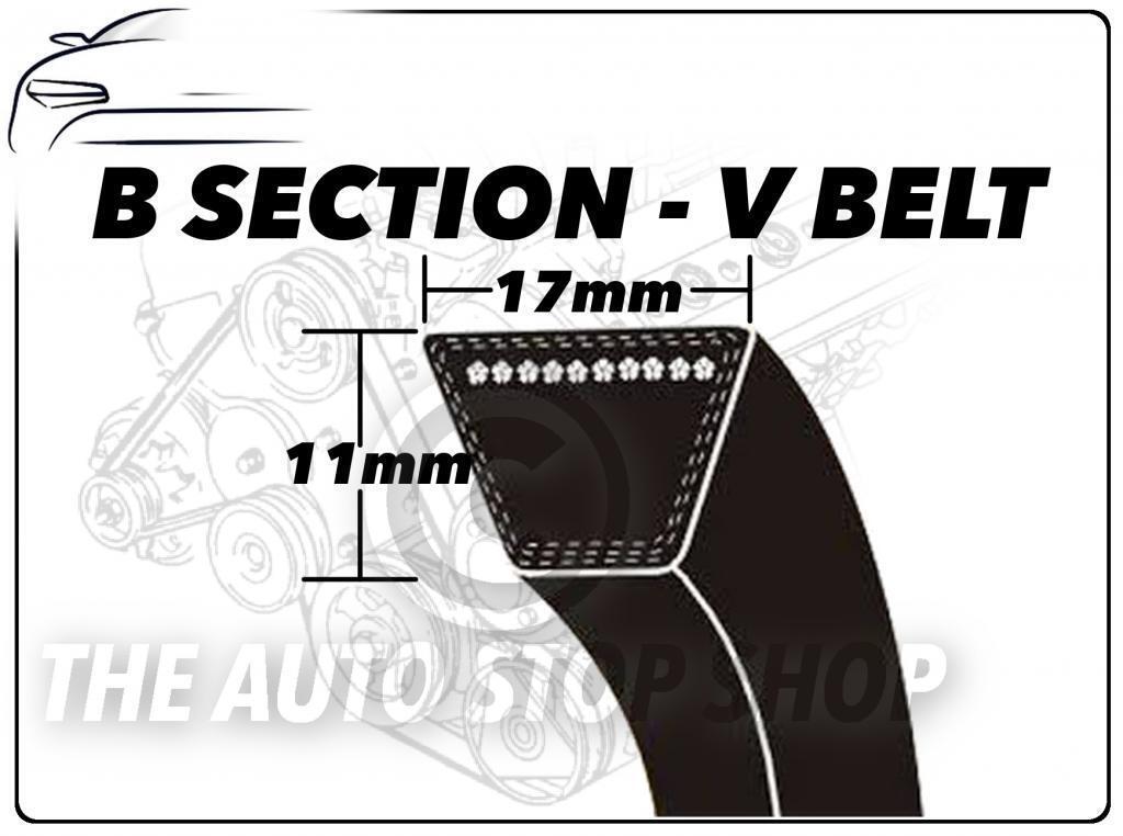 B51-B75 B Section Major Branded 17x11mm Vee V Belt Mower Fan Choose Size