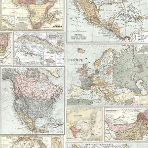 Globetrotter world map wallpaper holden 98271 vintage ebay globetrotter world map wallpaper holden 98271 vintage gumiabroncs Image collections