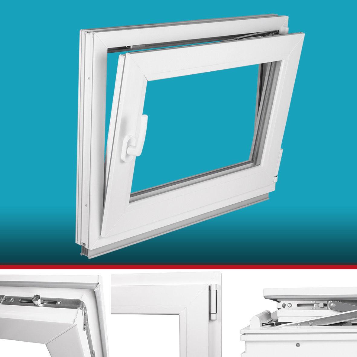 Fenster Kunststoff 2 Fach - 3 Fach, Fach, Fach, Breite 70 - Höhe 105-120 -Dreh Kipp- Premium f9e534