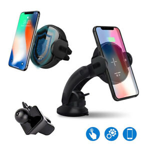 Fast-15W-Qi-Wireless-Car-Charger-Air-Vent-Mount-Holder-For-iPhone-8-X-XS-Max