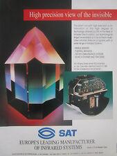 5/1990 PUB SAT DEFENSE INFRARED LINESCANNER CL 289 DRONE SYSTEM ORIGINAL AD