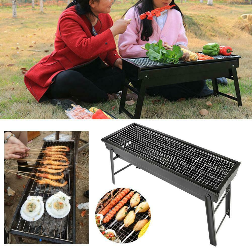 17In BBQ Barbecue Grill Folding Portable Charcoal Kabob Stove Camping Outdoor