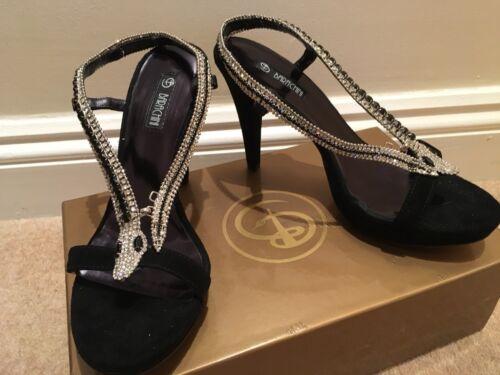 Evening Diamante New Boxed Snake Shoes Fastening Decoration UrawUqg