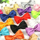 Adjustable Bow Tie Tuxedo Bowtie Solid Colors Neckwear NEW Pre-Tied