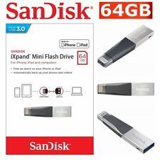 SanDisk IXPand Mini Flash Drive USB 3.0 64GB Memory Stick IPhone IPad PC Mac NEW