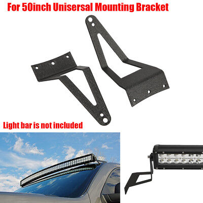 """2x 50/"""" Curved LED Light Bar Windshield Mount Brackets For 99-16 Ford F250"""