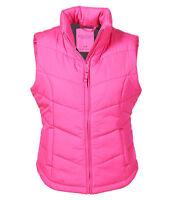 Women's Aeropostale Solid Chevron Quilted Vest Aero Puffer Jacket Coat -