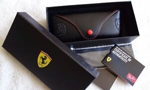 Ray-Ban-Brand-New-Ferrari-Scuderia-Sunglasses-Case-amp-cleaning-cloth-amp-Gift-Box