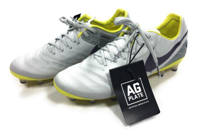 Nike Womens Tiempo Legend VI AG Soccer Cleats 846227-054 Gray Yellow Sz 7.5 ed01d6858569