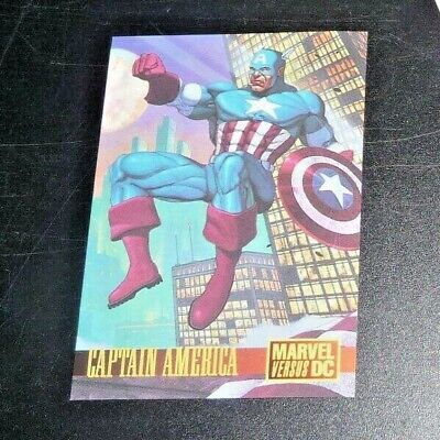 Captain America Avengers 1995 Fleer Skybox MARVEL vs DC Batman Promo Card #2