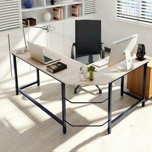 Home-Office-L-Shaped-Desk-Computer-Desk-PC-Laptop-Table-Wood-Workstation-Study