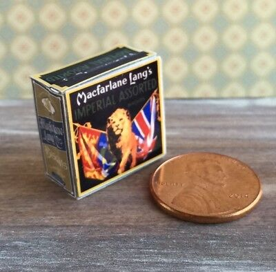 Dollhouse miniature food 1:12 Vintage Replica Imperial Assorted Biscuits Tin