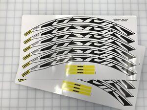 Cosmic Elite UST 30mm+Wheel Decals/Sticker<wbr/>s for 30mm rim WHITE set of 12
