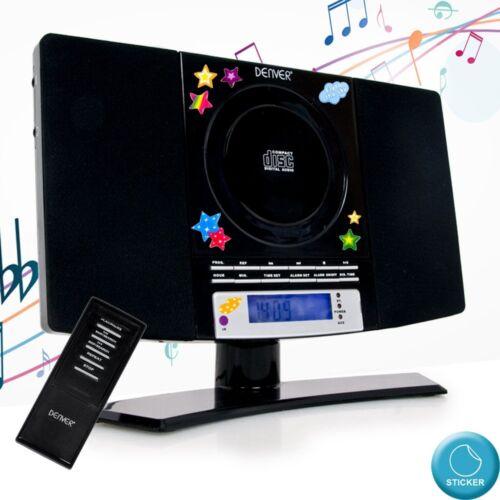 CD Spieler Jungen Stereo Anlage Fernbedienung Uhr MP3 AUX Wecker Sterne Sticker