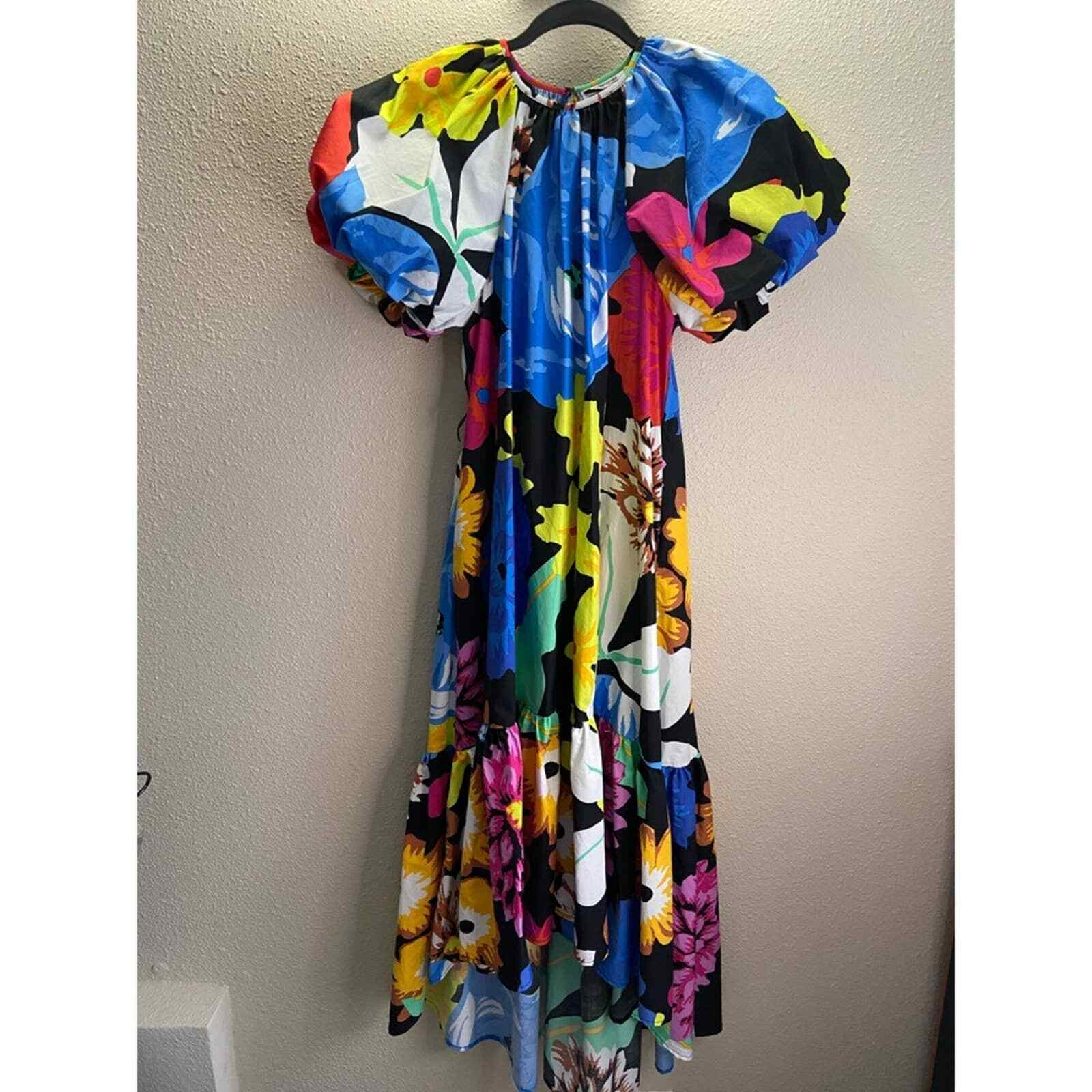 Christopher John Rogers Floral Puff Sleeves Dress - image 4