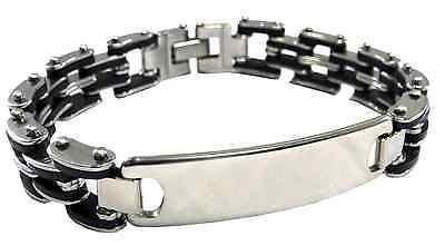Luxury Engraved Gifts UK Mens Happy Anniversary Identity Id Bracelet Personalised Custom In Gift Box BR3