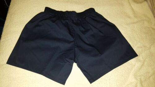 """Mens Vintage Style Sports PT Gym Shorts Poly Cotton Unlined Size xs 28/"""" Navy"""