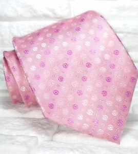Cravatta-rosa-pois-TOP-Quality-NOVITA-Made-in-Italy-marchio-100-seta-Tre-marca