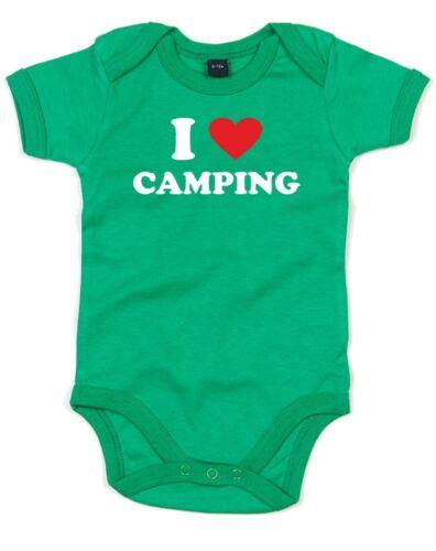 Printed Baby Grow I Love Camping