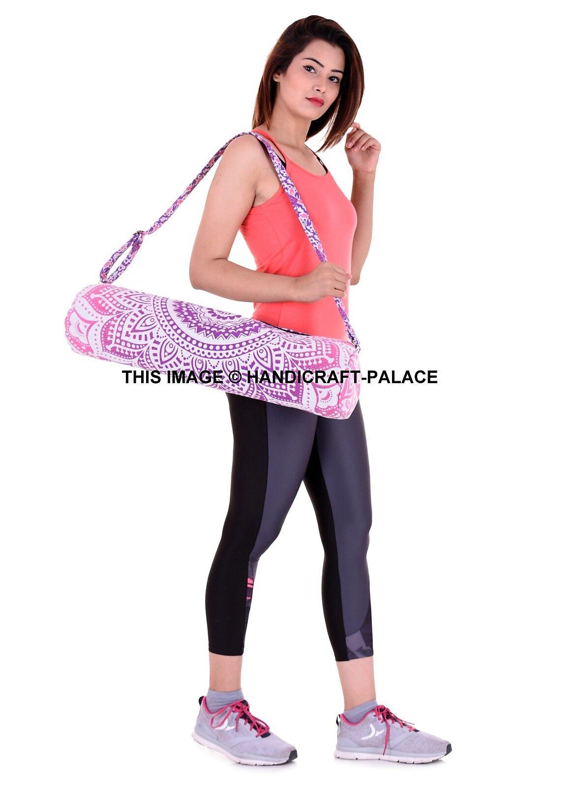 5 PC Wholesale Mandala Lot Yoga Bag Activities Pilates Pilates Pilates Carrier Cotton Bag Indian 60afd7