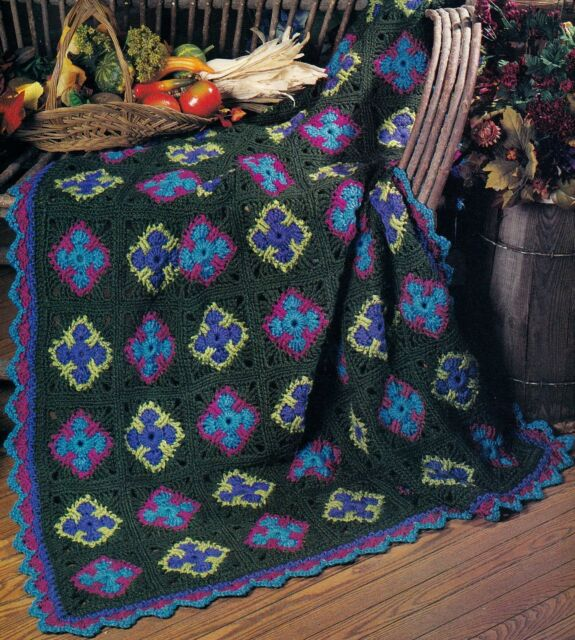 SPECTACULAR Summer's Last Hurrah Afghan/Crochet Pattern Instructions