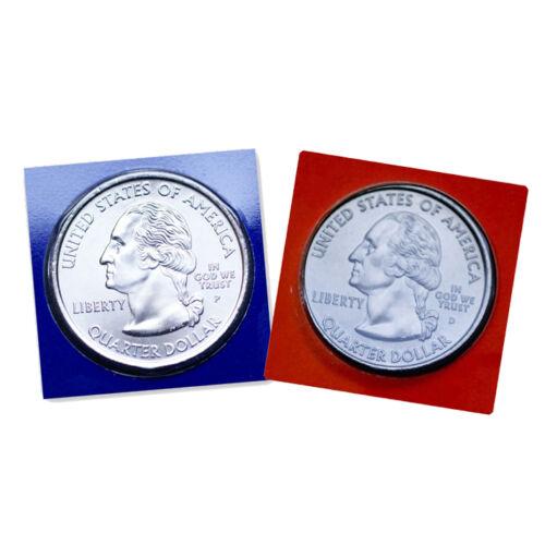 2007 P+D  Washington Quarters ~ Satin Mint Strikes ~ In Mint Wrappers