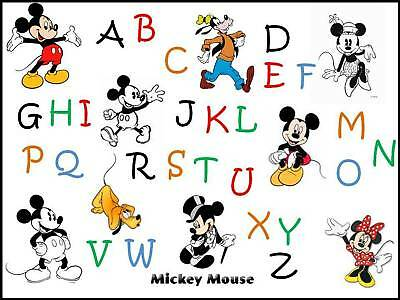 Grille Point De Croix Abc Alphabet Mickey Ebay