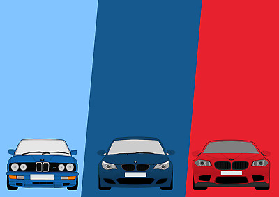 A4 A3 A2 sizes POSTER BMW E24 NEON - Art Print Car 80/'s Style Tron