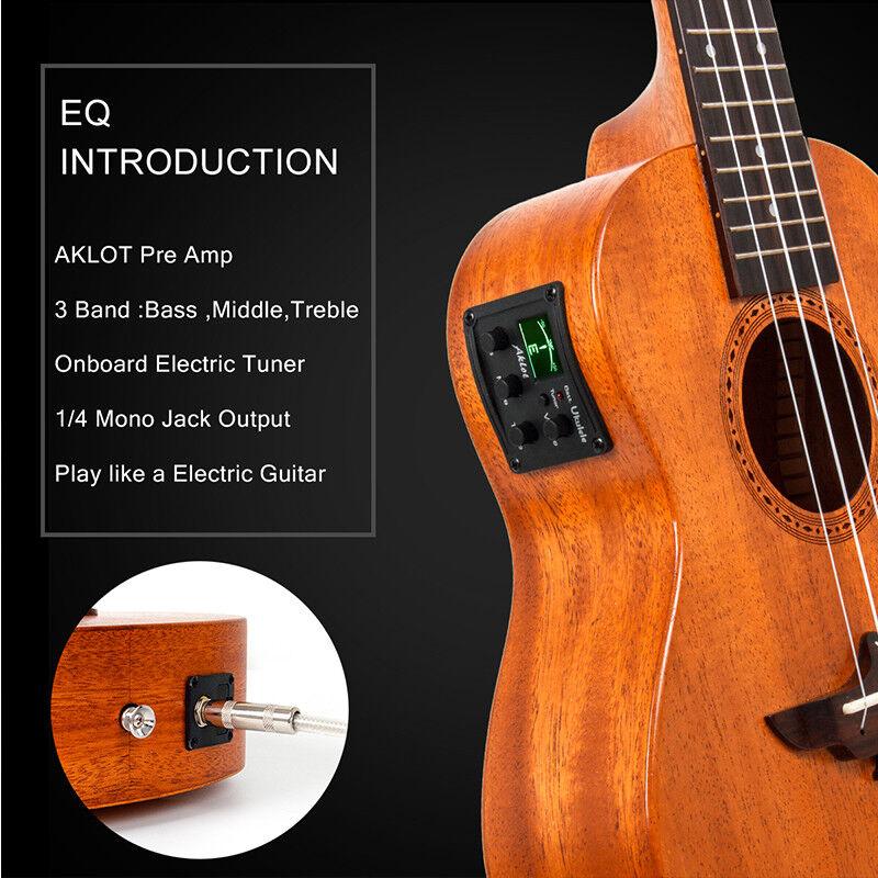 Ukelele Tenor Tenor Tenor eléctrico de caoba sólidos aklot Soprano Concierto Ukelele Uke Guitarra af0c6f