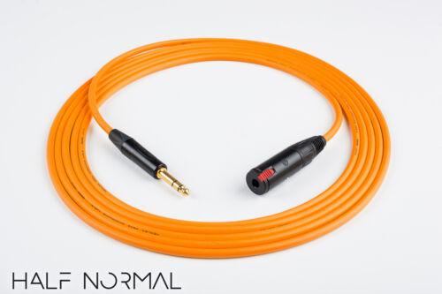 "5/' Mogami 2534 Quad Balanced Neutrik Gold 1//4/"" TRS to 1//4/"" TRS Female Orange"