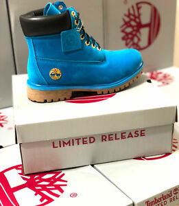 TIMBERLAND NEW MEN'S WATERPROOF BOOTS ROYAL BLUE PREMIUM 6 INCH CLASSIC  10061