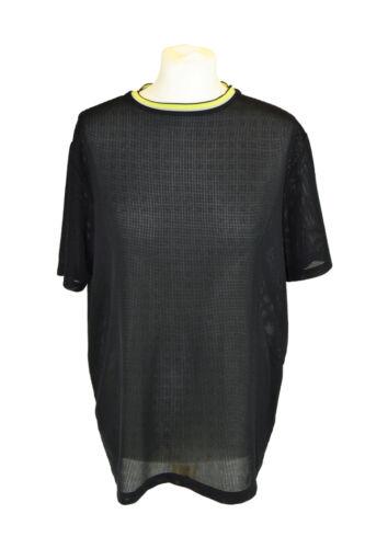 ALEXANDER WANG Black Mesh T-Shirt, Small