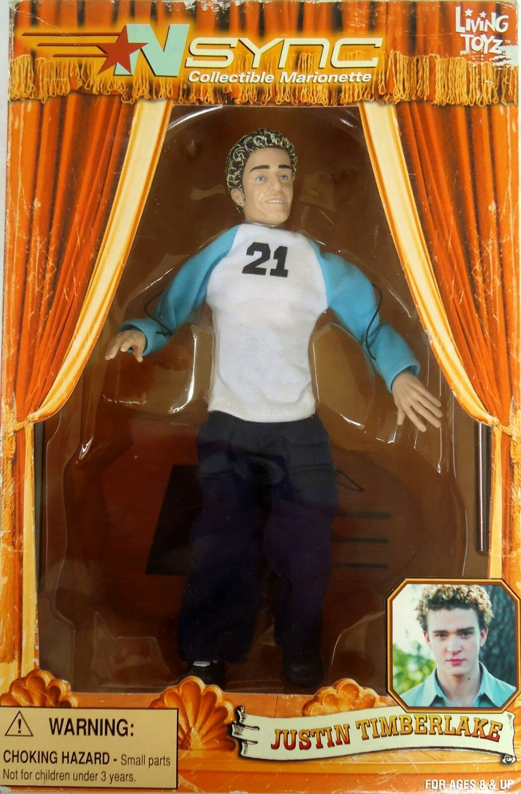 Nsync Collectable Marionette Justin Timberlake (2000) (2000) (2000) Living Toyz-Collectable 9c0782