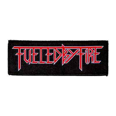FUELED BY FIRE Sew-on Patch LOGO U. S. Thrash Metal,Woven Patch,official product