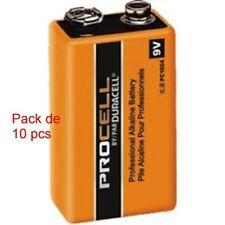6LR61- 6F22 - 9V Duracell Industrial  Pack 10 pcs ,  MN1604, PP3 block