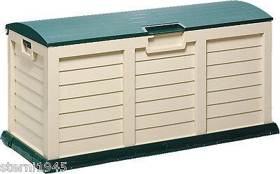 KISSENBOX RUND JUMBO XXL BEIGE//GRÜN AUFBEWAHRUNGSBOX GARTENBOX CA.141,5 x 61,5