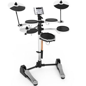 NEW-AROMA-TDX-10-ELECTRONIC-DRUM-SET-in-WHITE