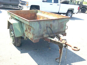 Military Surplus M416 1 4 Ton Cargo Trailer Jeep Mutt Cargo Trailer