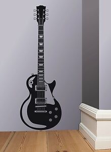 Nice Image Is Loading Les Paul Gibson Guitar Wall Art Sticker Decal