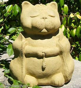 Large meditating cat solid stone garden buddha independence zen image is loading large meditating cat solid stone garden buddha 034 workwithnaturefo