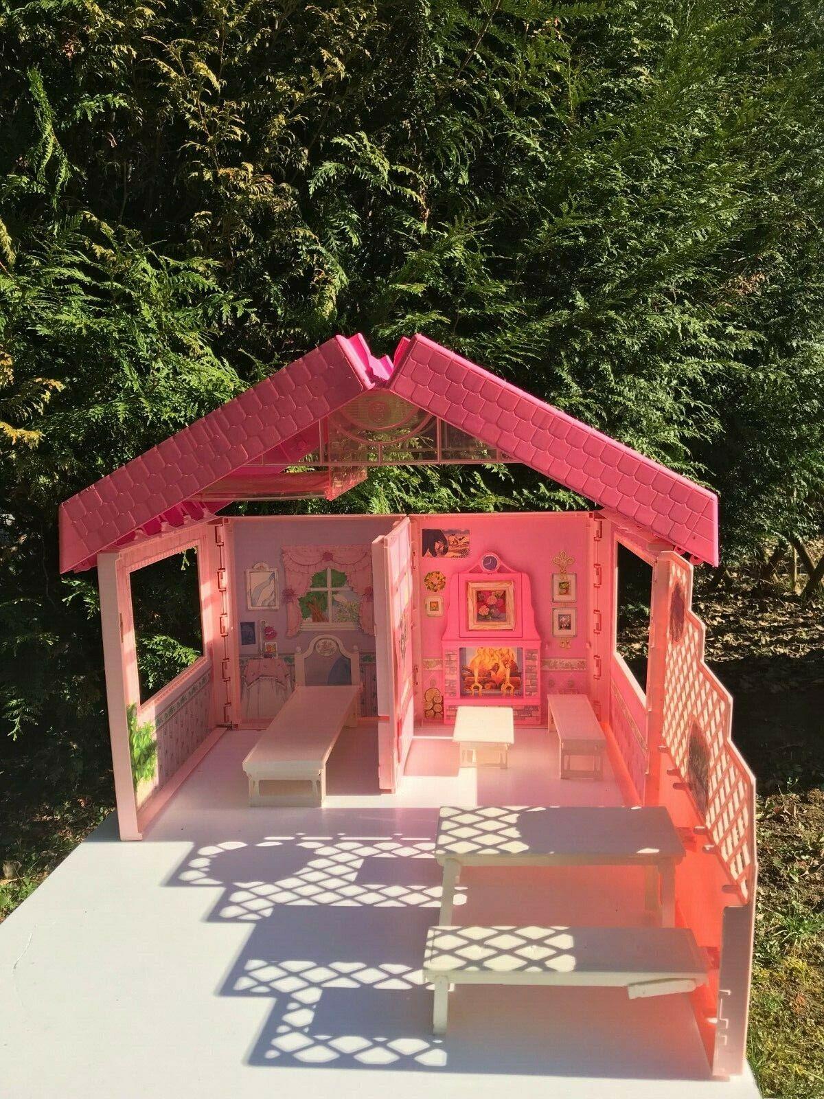 ♥♥  Jouet Maison De Poupée Pliable Valisette Barbie Vintage Authentique